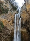 Bliha Waterfall in the northwest of Bosnia and Herzegovina is a protected natural monument