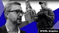 Кримськотатарський політик, викладач, політолог і журналіст Наріман Джелял, колаж