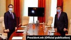 """Стево Пендаровски и Мирослав Лајчак на Глобалниот безбедносен форум """"ГЛОБСЕК 2020"""" во Братислава, 8 Септември 2020"""