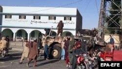 Militantët talibanë pasi morën kontrollin e Lashkar Gah, kryeqytetin krahinor të Helmandit, 13 gusht 2021.