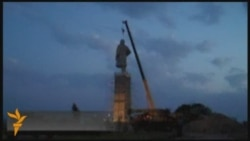 Lenin Monument Dismantled In Tajikistan