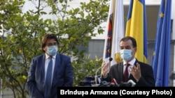 Premierul Ludovic Orban și primarul Timișoarei, Nicolae Robu