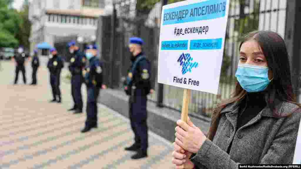 Акція-нагадування про жертви насильницьких зникнень в Криму. Київ, 26 травня