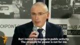 Freed Khodorkovsky Challenges Putin Over Political Prisoners