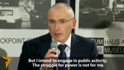 Freed Khodorkovsky Challenges Putin Over Political Prisoners