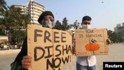 Hapšenje Diše Ravi izazvalo je buru kritika opozicionih političara i drugih aktivista koji su rekli da je to eskalacija vladinih namjera da ućutka neistomišljenike.