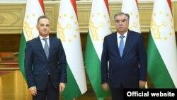 Эмомали Рахмон и Хайко Маас, Душанбе, 30 августа 2021 года