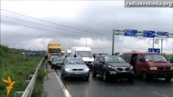 Під Рівним упродовж трьох годин блокували автотрасу Київ-Чоп