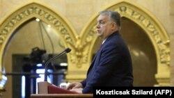 Viktor Orbán în Parlamentul de la Budapesta, 15 february 2021
