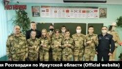 Школьники-росгвардейцы в Иркутске