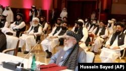 شماری از اعضای طالبان در مذاکرات میان افغانان در قطر