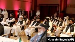 اعضای هیئت مذاکره کننده گروه طالبان در قطر