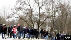 Марш абвінавачваньня ў адным з раёнаў Менску