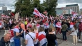 Акцыя салідарнасьці зь Беларусьсю ў Варшаве