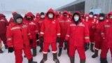 Kazakhstan – KMK Munai oil company workers protest / strike. Kokzhide oilfield in Aktobe region. January 26, 2021