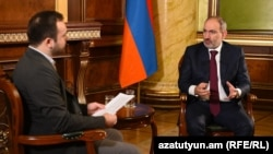 Armenia - Prime Minister Nikol Pashinian is interviewed by RFERL, Yerevan, December 16, 2020