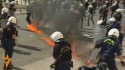 Clashes Erupt In Athens Amid New Mass Protests