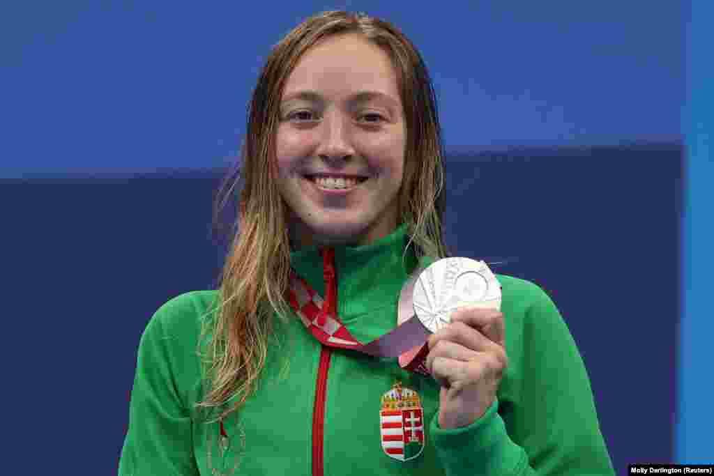 Az ezüstérmes Konkoly Zsófia. Nyolc századmásodperccel maradt le az aranyról 400 méteres gyorsúszásban
