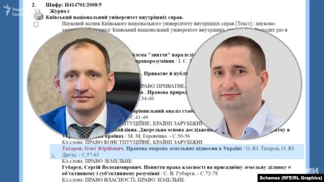 Ще один член комісії Олексій Дрозд писав спільні статті з Олегом Татаровим – одна з них мала назву «Правова охорона земельних відносин в Україні»