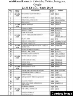 جدول برنامههای بزرگداشت مولانا