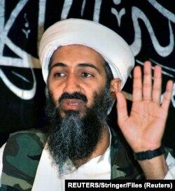 Osama bin Laden la o conferință de presă susținută în Afghanistan in 26 mai 1998.