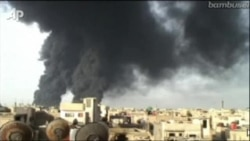 Oil Pipeline On Fire In Homs, Syria