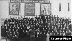 Хор города Енисейска под руководством Шварцбурга и Швейника. 1940-е годы