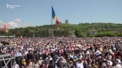 """VIDEO Papa Francisc, la Blaj. """"Este șansa pe care bunica mea nu a avut-o"""""""