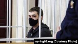 Раман Канановіч у судзе, 10 лютага 2021. Фота: spring96.org