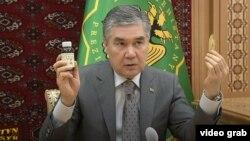 "President Gurbanguly Berdymukhammedov ordered Turkmenistan's Academy of Sciences to ""carefully study"" the herb's ""antiviral effects."""