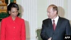 Кондолиза Райс и Владимир Путин