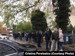 Очереди на участок голосования в Берлине