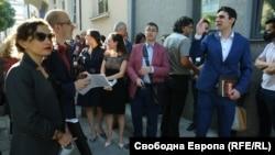 Десетки съдии се събраха на символичен протест пред ВСС на 16 септември 2020 г. Последва преработване на Единната информационна система на съдилищата, срещу която те протестираха. Година по-късно проблемите остават.