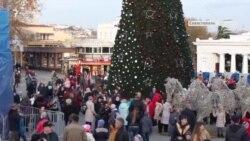 Открытие городской елки в Севастополе (видео)