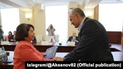 Встреча Аксенова с послом Никарагуа, Симферополь, 17 сентября 2021 год