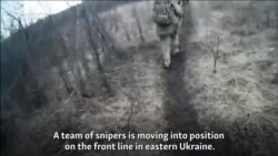 Video Purportedly Shows Russian Snipers In Ukraine
