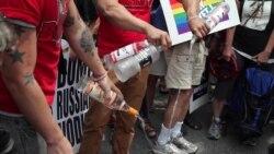 Американские акции в поддержку российских геев