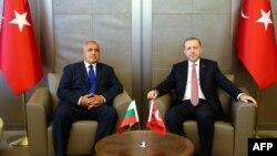 Премиерът на България Бойко Борисов и президентът на Турция Реджеп Тайип Ердоган имат традиционно добри отношения.