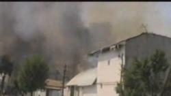 Homes Burn In Osh