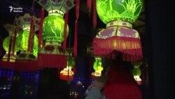 Çində qarpızdan lampa yarışması