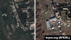 На правом снимке видна новая радиотехническая станция, появившася вблизи Севастополя за последние четыре года