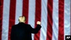 Președintele republican Donald Trump la încheierea mandatului.
