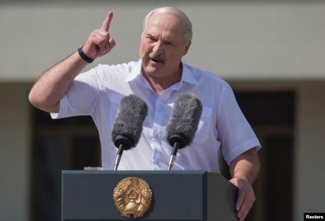Belarusian strongman Alyaksandr Lukashenka (file photo)