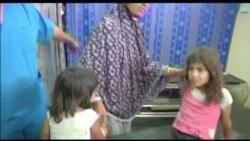 Qəzzanın bombardmanında yaralanan uşaqlar