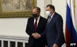 Встреча Сергея Лаврова и Милорада Додика. Сараево, 15 декабря 2020 года