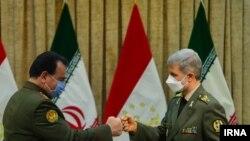 وزرای دفاع ایران و تاجیکستان
