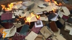 Azerbaijani Writer's Books Burned In Ganca