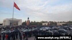 Ситуация на площади после завершения митинга. Вечер 9 октября.