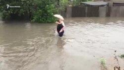 Сімферополь поплив: у місті злива