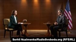 Энтони Блинкен во время интервью